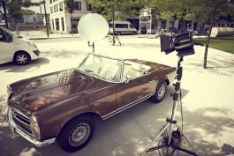 dedolight dlh400 light lighting vintage car for photography