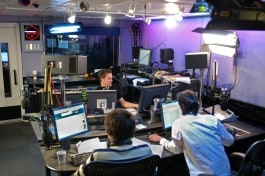 Kino Flo lights lighting radio studio for video