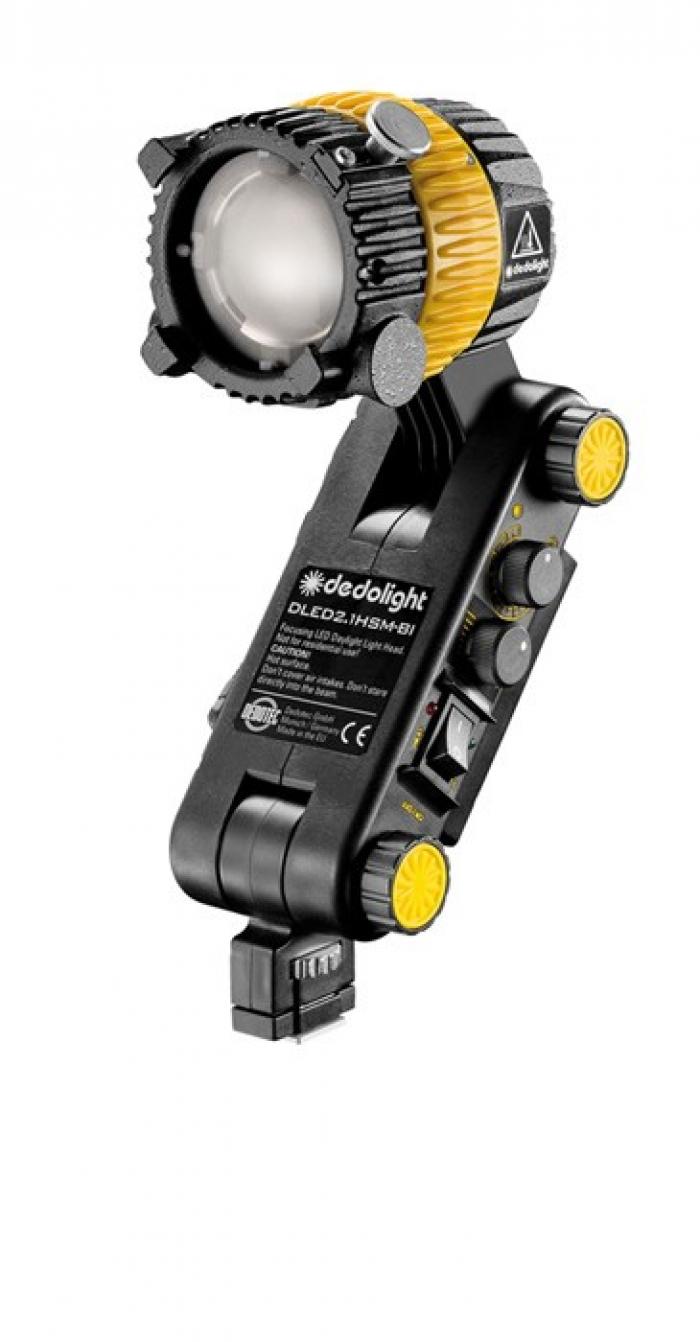 Dedolight 20W Focusing LED light head, integrated ballast, bi-color with Hot Shoe mount