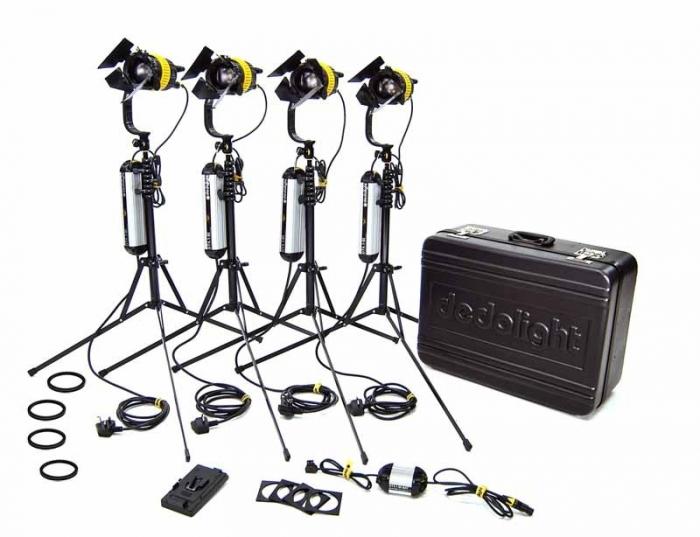 DLED4-BI - 4 Head BI COLOUR 40W LED Hard Case KIT
