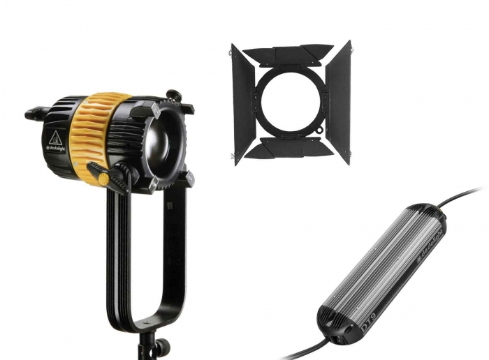Dedolight 90W LED Daylight System, includes Fixture, Barndoors, Dimmer (90v-264v)