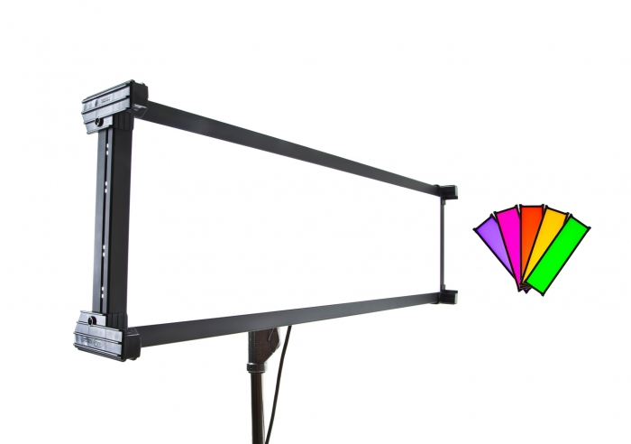 Kino Flo Celeb 450 DMX LED soft lighting fixture, Kelvin tuneable with colour gel presets
