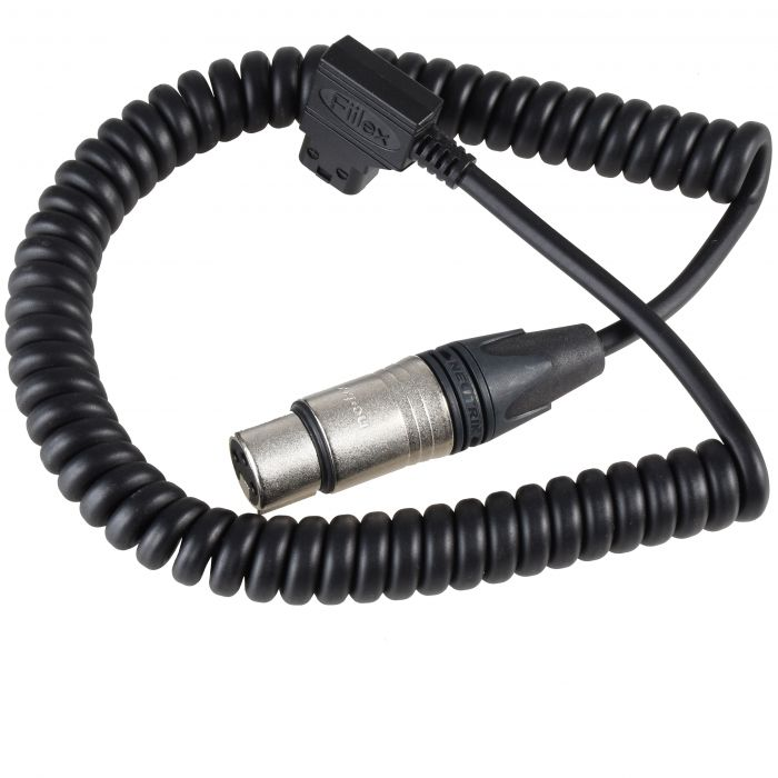 """D-Tap Cable, 18"""" Curled D-Tap to XLR3 fiilex q5 color"""