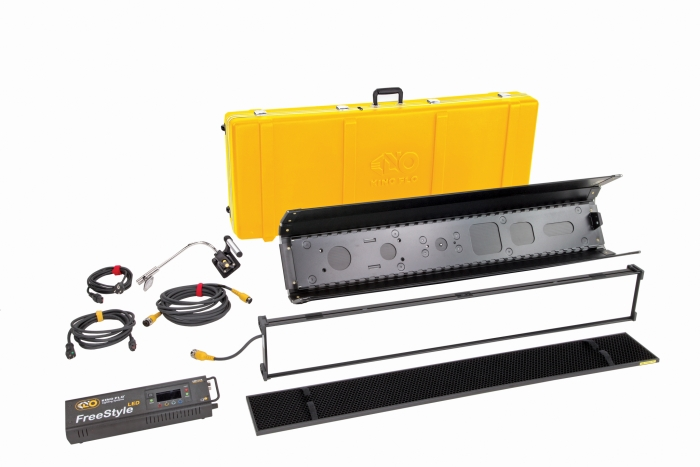Kino Flo LED FreeStyle 41 lighting system with built-in colour filters, kit with hard case