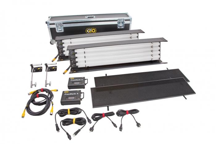 Kino Flo FreeStyle T44 Gaffer LED DMX Kit,  Universal (2-Unit), LED Tubes RGBWW