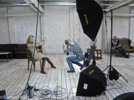 dedolight panaura octodome hmi light on fashion photography set