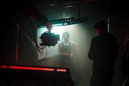 Kino Flo Image L80 LED lights lighting talent for short promo film, commercial, cinematography, RGB