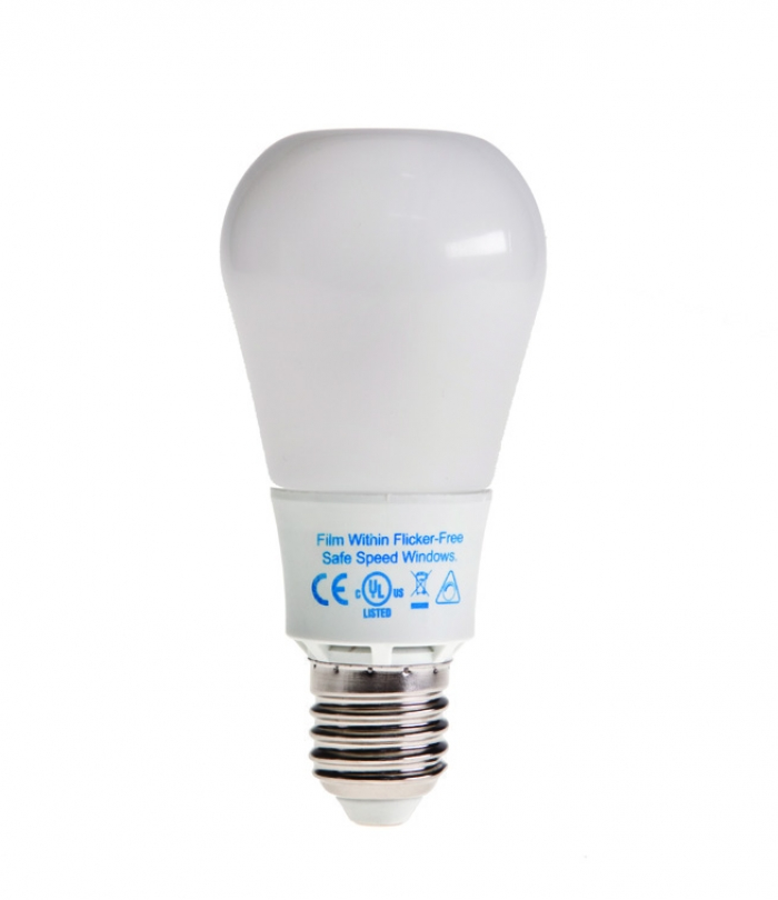Kino Flo's 8W daylight LED bulb was specially designed for the professional lighting industry