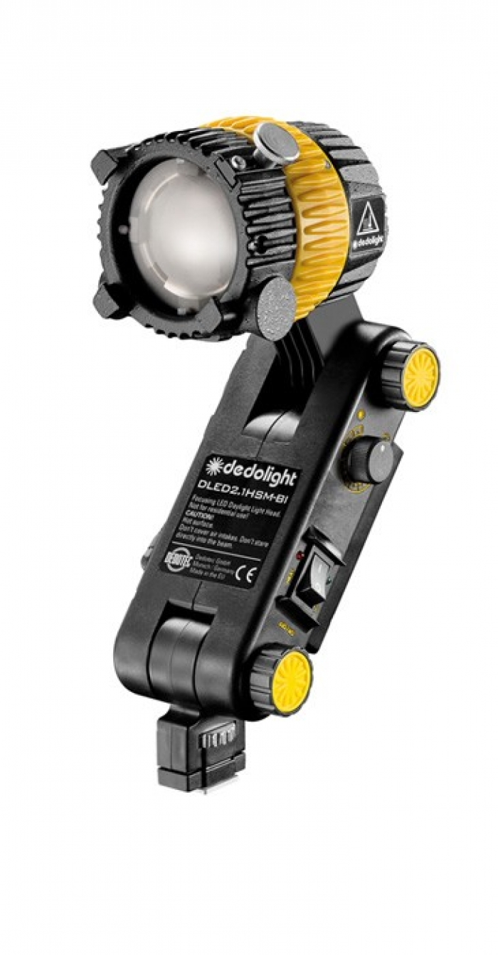 Dedolight 20W Focusing LED light head, integrated ballast, daylight with Hot Shoe mount
