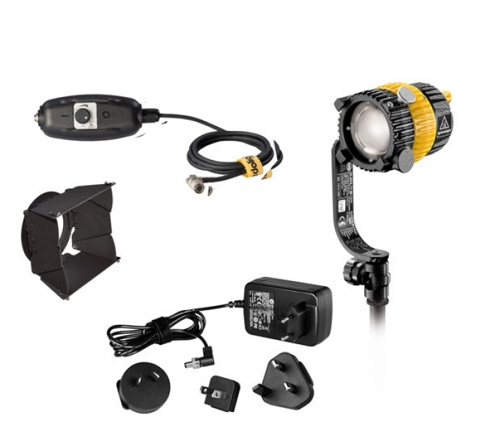 Dedolight 20W LED Bi-colour System, includes Fixture, Barndoors, Dimmer and Transformer