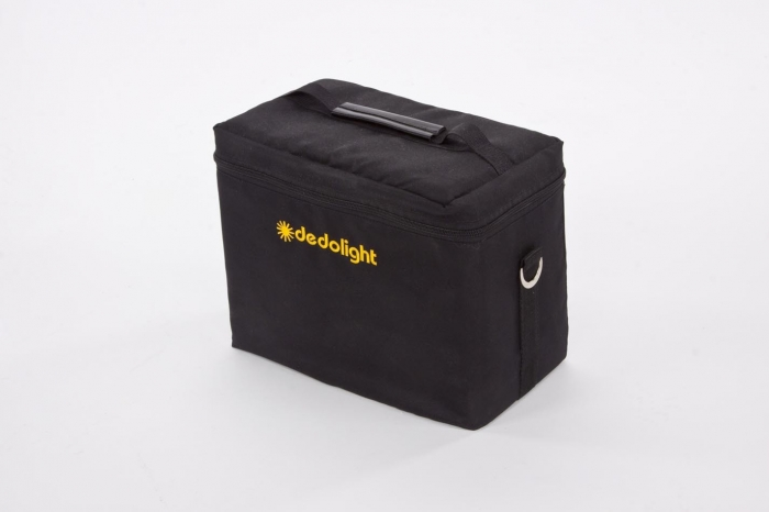 DSCM Dedolight soft case for a single classic series light head, power supplies and imager.