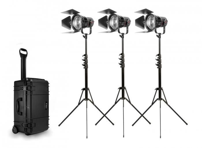K305 Three-Light Kit P360 5 inch Fresnel Lens fiilex led ligh lighting aputure arri