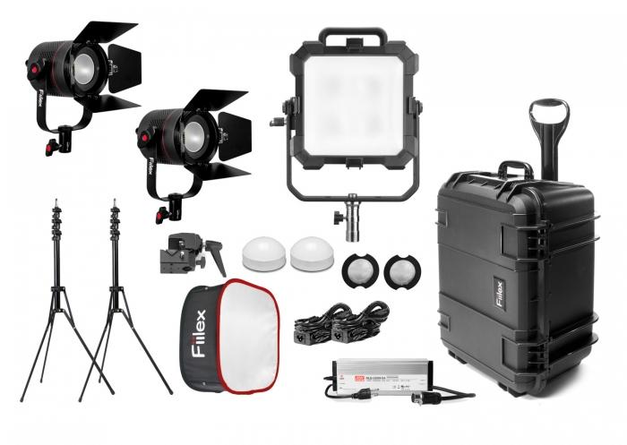 X342 Gaffer Kit Matrix RGBW P360 Pro Plus fiilex led lighting location hard case