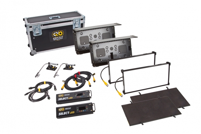 Kino Flo Select LED FreeStyle 21 lighting system with built-in colour filters, kit with double ship case