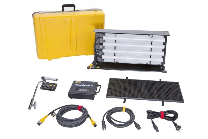 FreeStyle T24 LED DMX Kit, Univ w/ Travel Case kino flo astera quasar