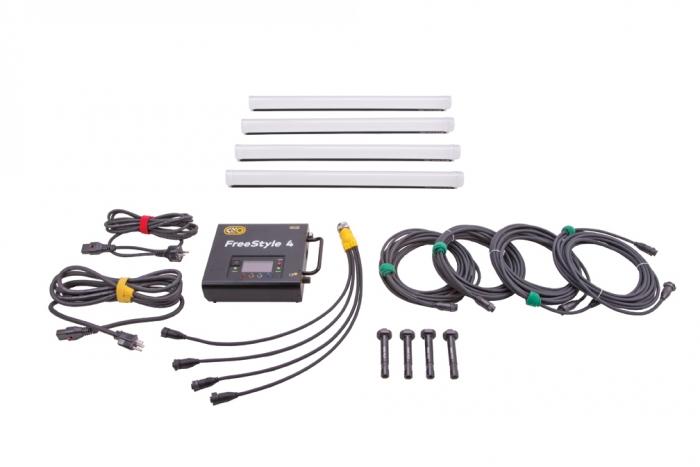 Kino Flo FreeStyle 2ft LED DMX System (4-Tube),  Universal, LED Tubes RGBWW 2ft 2 foot feet 4bank