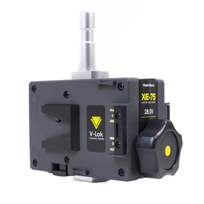 24V Dual V-Lock adapter with Spigot Mount